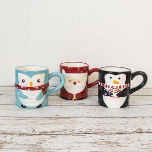 🌷 3/$25 Set of Three Christmas Mugs